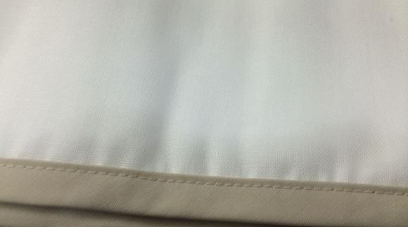 ガーゼ枕カバーの編み目の細かさ
