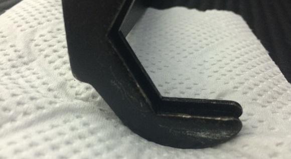 水栓の六角ナットを回す専用工具のズレてる部分