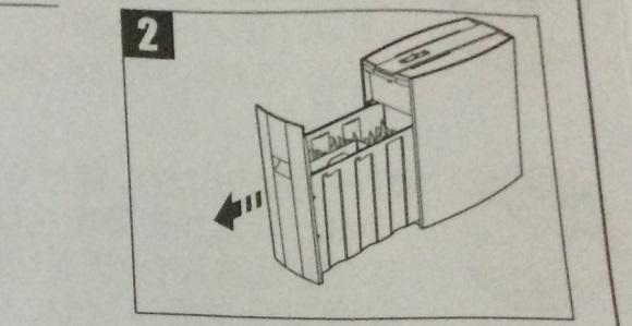 アイリスオーヤマのPS5HMSDの説明書のダストボックスを外す所の図